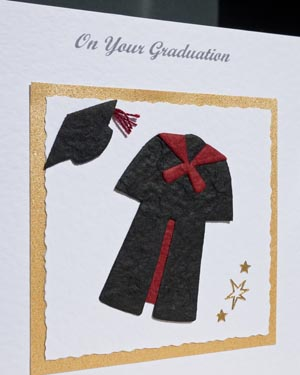 Graduation - Black with red trim