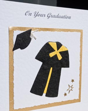 Graduation - Black with yellow trim