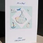 Special Delivery New Baby Boy Card Angle - Ref P130