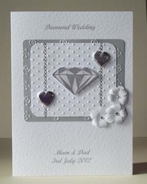 Diamond Sparkles Wedding Anniversary Card Front