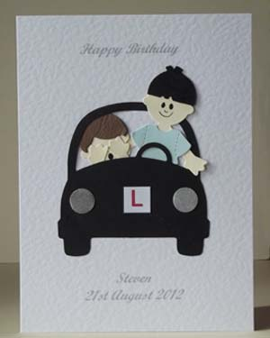 Learner Driver Mens Birthday Card Front